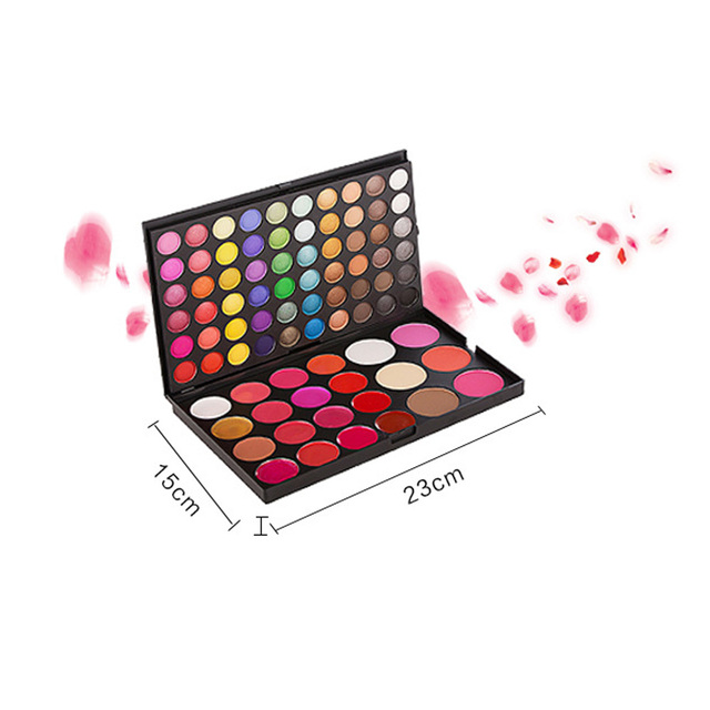 Fashion New 82 Full Color Concealer Eyeshadow Lip Gloss Blusher Cosmetic Palette Makeup Kit Eye Shadow Glitter Make Up Set Tools
