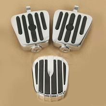 Motorcycle Brake Pedal Cover Pad Foot Peg Rests For Harley Touring Road King Electra street Glide Ultra Tri Glide недорого
