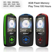 1.8 pulgadas de Pantalla TFT RuiZu X06 HiFi 8 GB Deporte Reproductor de Música Con Ranura Para Tarjeta SD, FM, Alarma, calendario, Cronómetro, Portátil Mini MP3