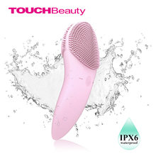 TOUCHBeauty Facial cleansing brush Sonic Vibration Face Cleaner Double-sided Silicone Deep Pore Cleaning Face Massager TB-1788P