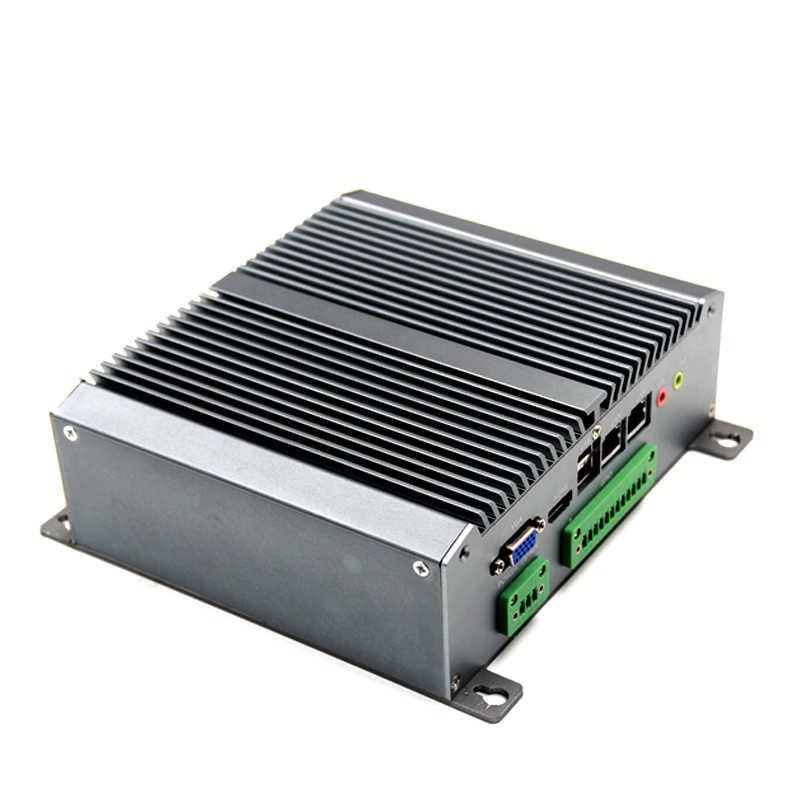 Oficina escolar sin ventilador Mini integrado IPC con CPU de doble núcleo N2800 Integrado 2G/4G RAM 6 * COM 4 * USB y 2 * LAN WIFI/SSD para opcional