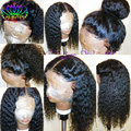 Cheap Curly Synthetic Lace Front Wig for Black Women Glueless Medium Length Synthetic Wigs Lace Front Wig with Natural Hairline