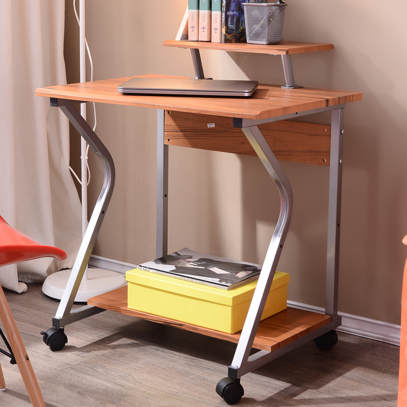 Bedroom computer desk small space saving move about simple single ...