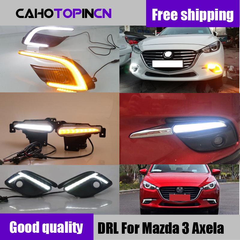 Daytime Running Light For Mazda 3 Mazda3 Axela 2017 2018 LED DRL Fog lamp Daylight with