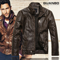 New Autumn Winter Brand Clothing Jaqueta De Couro Masculina Bomber Leather Jacket Fashion Mens Sheepskin Coat Motorcycle Jacket