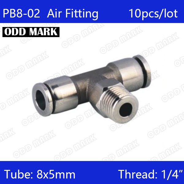 Free shipping 10pcs/lot 8mm to 1/4 PB8-02,304 Stainless Steel Tee Male Connector wordpress all–in–one for dummies®