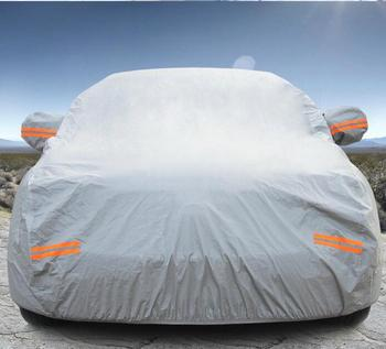 WISE TRAVEL  car covers outdoor sun protection cover for car reflector dust rain snow protective suv sedan hatchback full