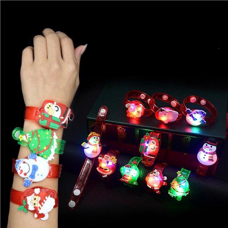 Illuminated Cartoon Spiderman LED Silicone Bracelet Night Light Party Christmas Decoration Lights Led Lamp For Kids Baby Gifts