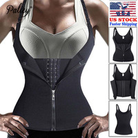 Palicy Neoprene Sauna Sweat Vest Waist Trainer Cincher Women Body Slimming Trimmer Corset Workout Thermo Push