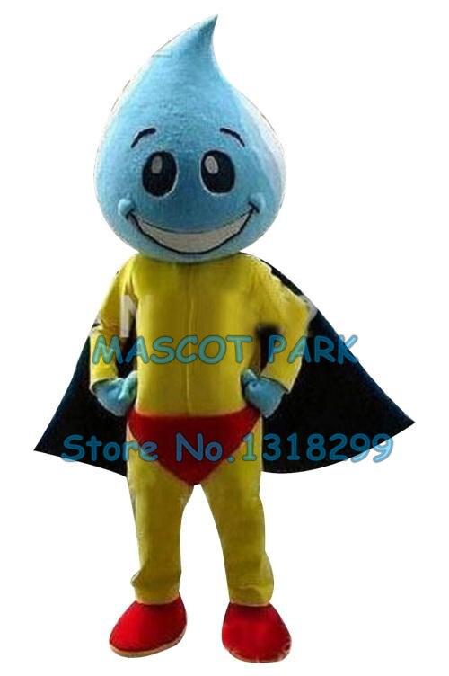 Gouttelette d'eau colorée goutte à goutte mascotte haute qualité matériel EVA grande tête joli Costume d'animal personnage Costume mascotte comme mode