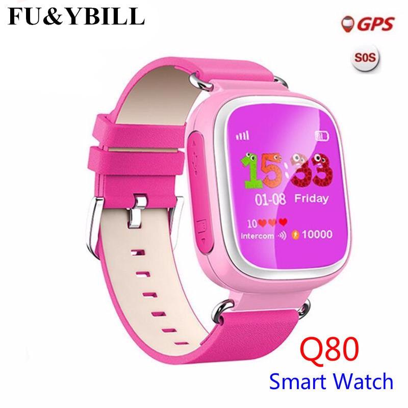 Q80 Børns GPS-positionering Smart Phone Watch 1,44 tommer Farve Anti-Lost To-way-opkald Se PK Q90 Q60 Q730 Q750 Q50