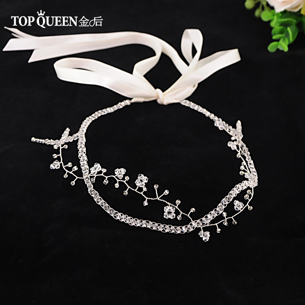 TOPQUEEN HP124 Romantic Wedding Hair Accessories Shining Rhinestones & Crystal Hair Crown Bridal Headband Party Jewelry
