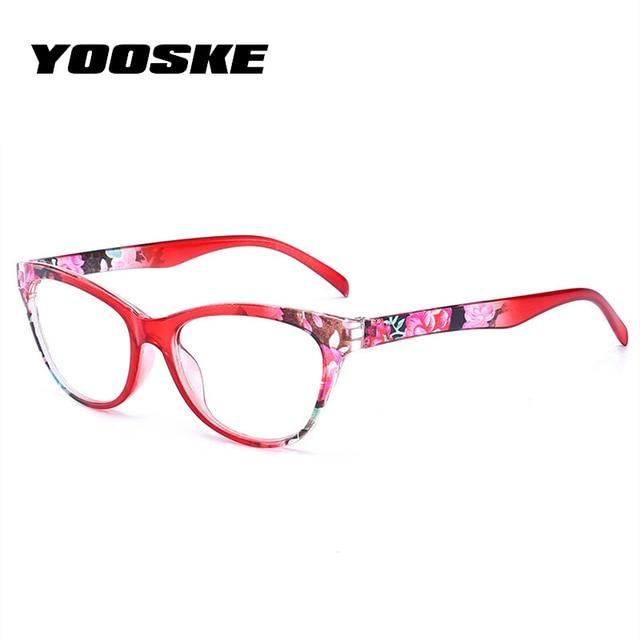 YOOSKE Reading Glasses Women Ultralight Printing Spectacles Men Hyperopia Prescription Eyeglasses Anti Fatigue Lens +1.5 +4.0