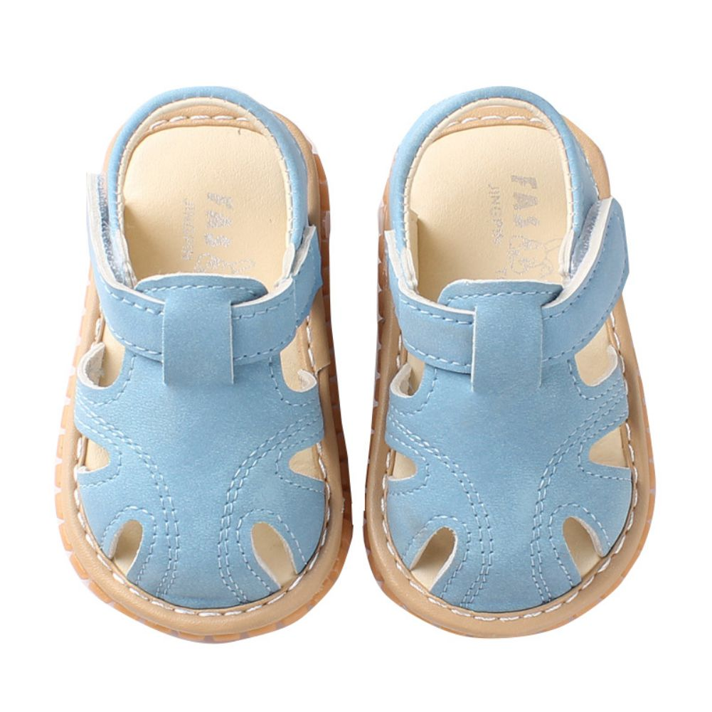 New Summer Baby Boys Shoes Soft Toddle Boy Sandals Leather Breathable Hollow Out Baby Slippers Prewalker Sandal Shoes Beach