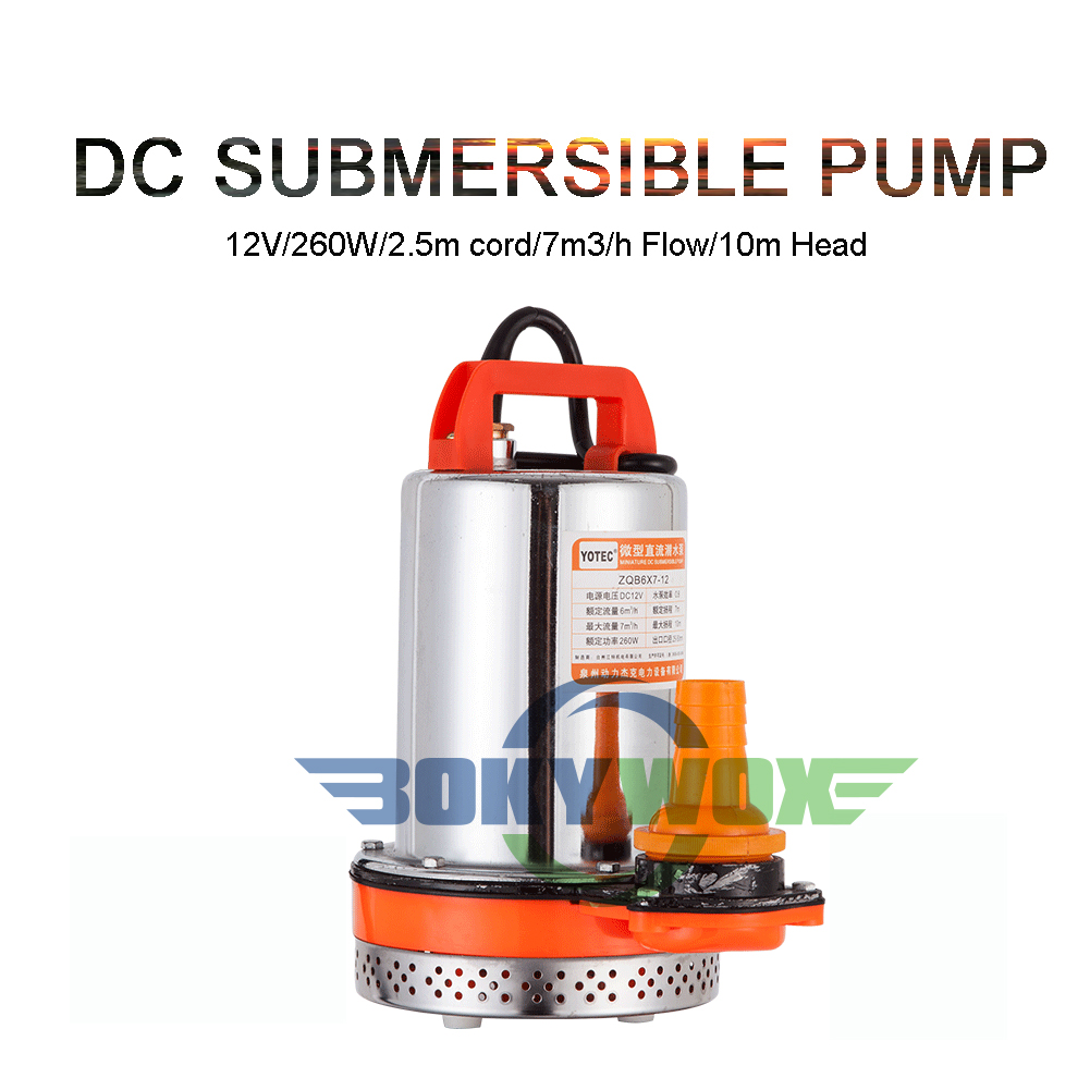 DC12V 260W Solar Powered Submersible Water Pump,Farm & Ranch Garden Household Well Water Pump 32.8FT Max Lift With 8.2ft Cord wolike dc12v 18v 180w max head 40m solar powered pump submersible bore hole deep well pump for farm fishpond and ranch