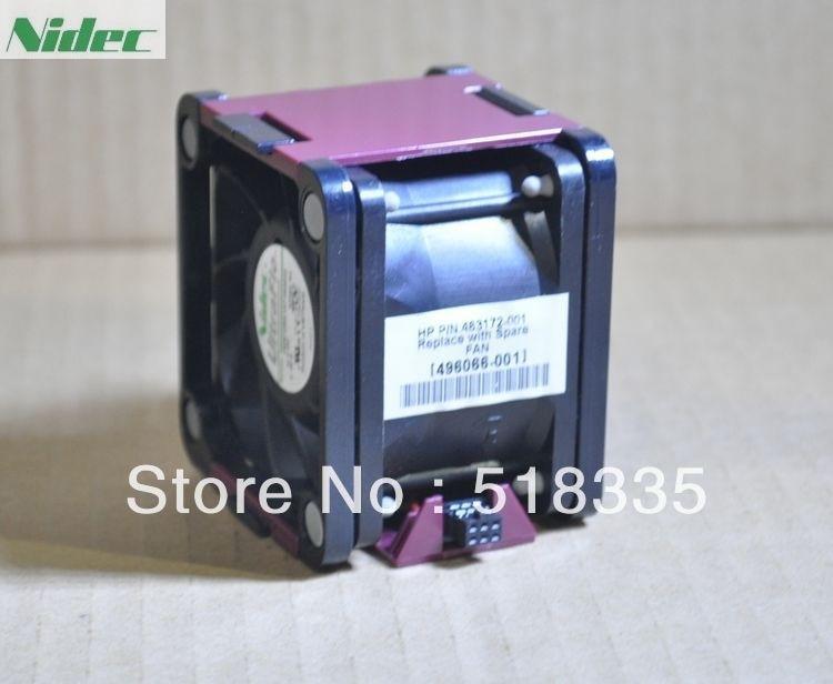 Nidec V60E12BS1A7-09A032 6cm 60mm 496064-001 496066-001  Server cooling fan  P/N: 463172-001 DL380G6/DL388G7 new nidec v60e12bma7 07 6038 12v 0 65a 6cm 4pin server cooling fan