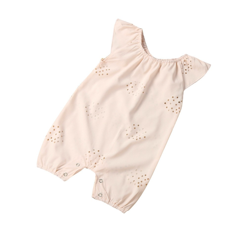 Newborn Infant Baby Boys Girls Romper Jumpsuit Outfits Clothes Hollow out Solid Sleeveless Baby Rompers Cute Sweet 2016 fashion baby boys girls rompers brand clothes cotton infant vest no sleep print romper 0 24m newborn jumpsuit baby clothing