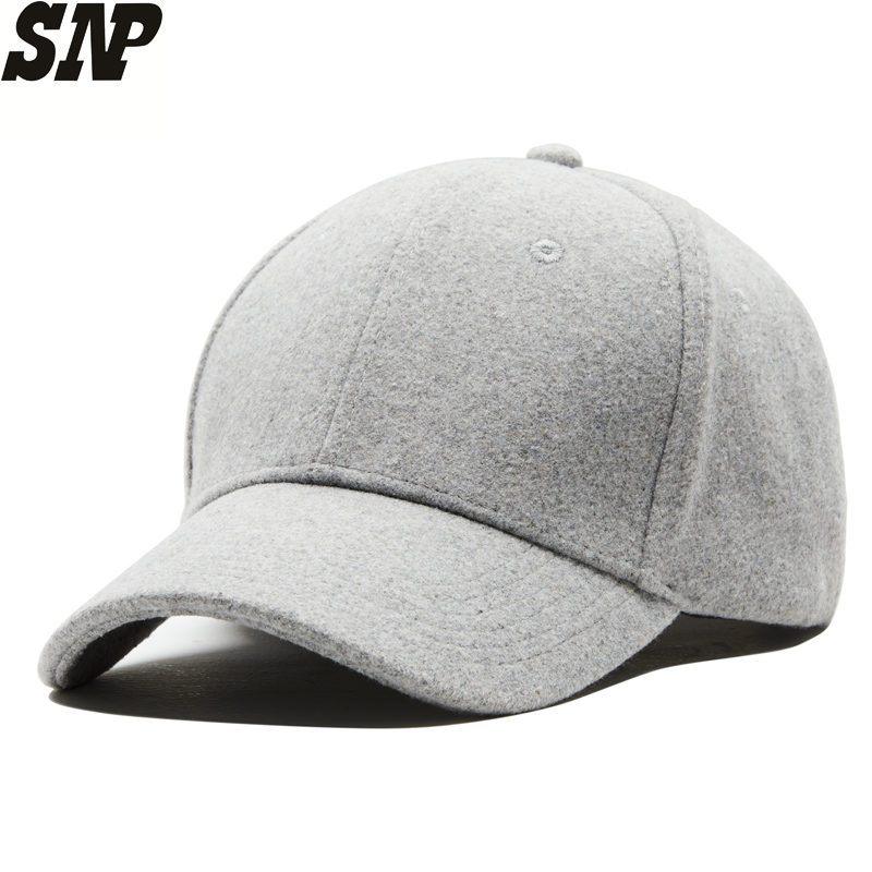 9ec0405a17a Detail Feedback Questions about Mens And Women s Winter Wool Baseball Caps  Sanpback Women Hats Men Winter Keep Warm Baseball Caps Adjustable 55 60CM  on ...