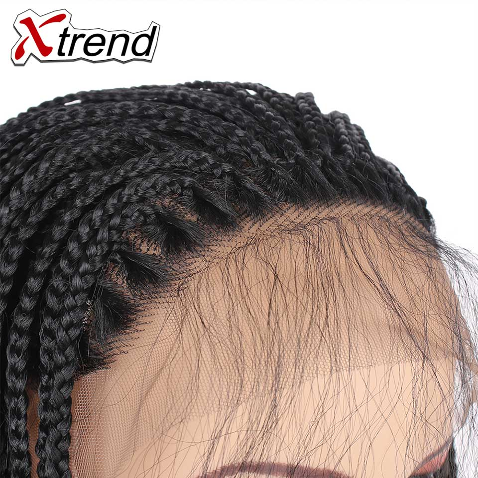 Xtrend Synthetic Long Lace Front Wigs Braided Box Braids Hair For