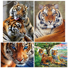 Animais Tigre Pintura Diamante mosaico diamante pintura Diamante bordado 5d diy diamante praça cheia pintura daimond(China)