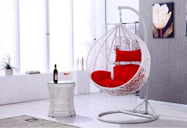 Schommelstoel Op Balkon : Wit rieten stoel swing opknoping manden indoor outdoor