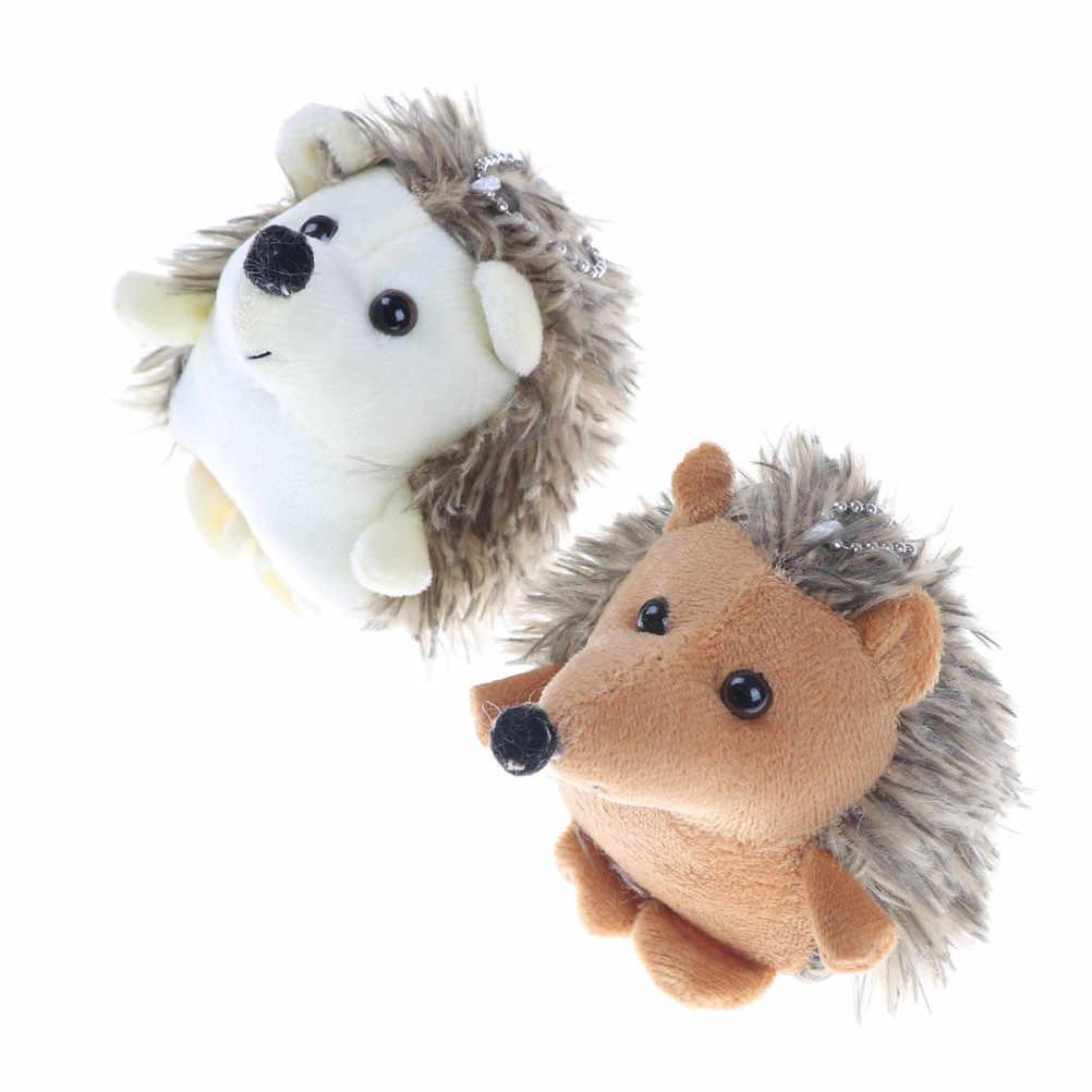 Lindo juguete de puercoespín llavero anime coche llavero de piel de peluche clave llaveros clave anillo titular clave colgante para bolsa regalos para mujer