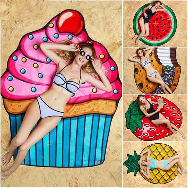 Drop Ship Swimming Beach Towel Round Picnic Blanket