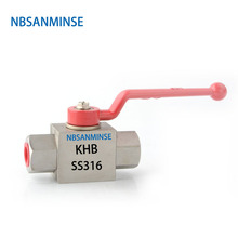 NBSANMINSE KHB High Pressure Hydraulic Ball Valve 3/4 1 1-1/4 1-1/2 G NPT Type Normal Temperature Anticorrosion Design SS316L