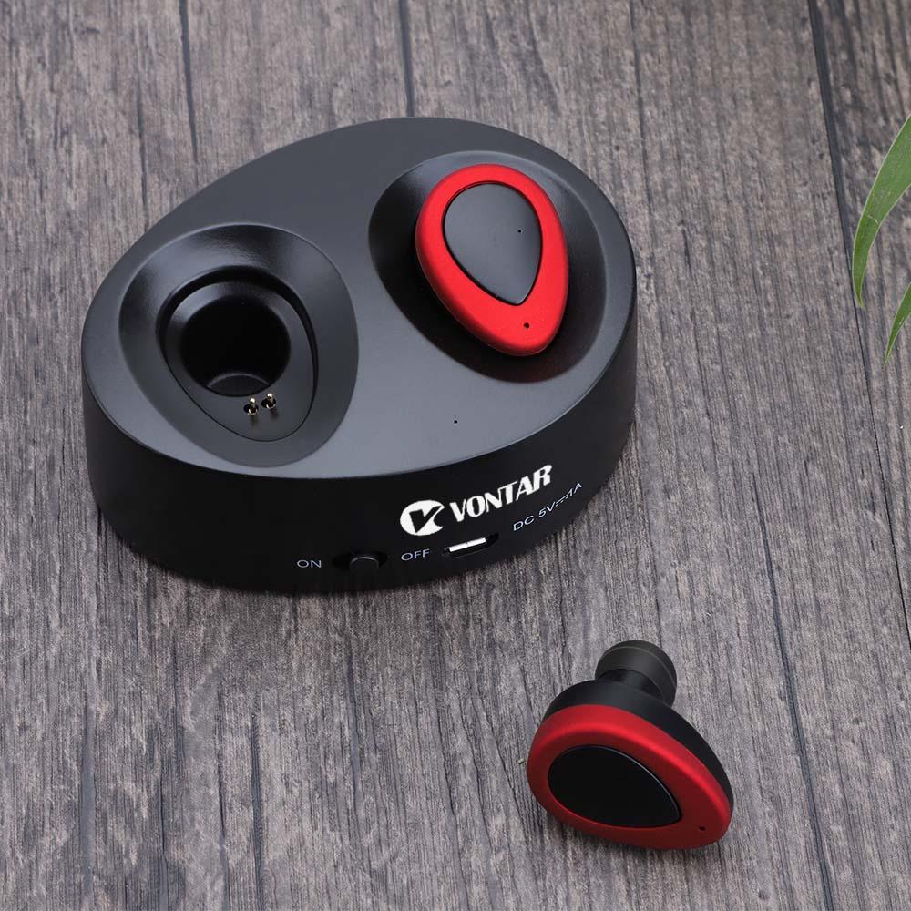 Vontar K2 TWS Mini Portable Earbuds Twins Earphone Bluetooth Wireless Headphone With Battery Box Noise cancel Headset