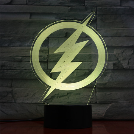Dc Justice League The Flash Logo Usb 3d Led Night Light Cartoon Superhero Boys Child Kids Birthday Gifts Table Lamp Bedside