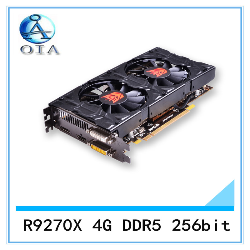 New Original Desktop Graphics Card R9270X 4G DDR5 256bit desktop computer independent  game  card  free shipping original new desktop computer game graphics card for colorful gtx750 twin 1gd5 1024m ddr5 128bit dx11 vga dvi hdmi free shipping