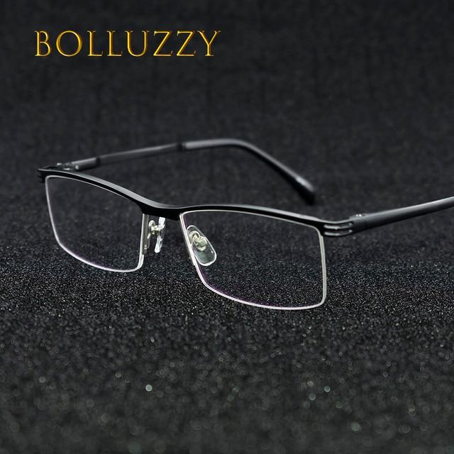 0f6d53fa863 High quality alloy optical prescription eyeglasses frame eyewear 2019-1  half rim spring legs men