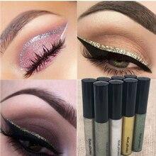 2017 Liquid Glitter Eyeliner Eyeshadow Shiny Waterproof Long Lasting Eye Makeup Cosmetic Maquiagem Lapis De Olho Delineador