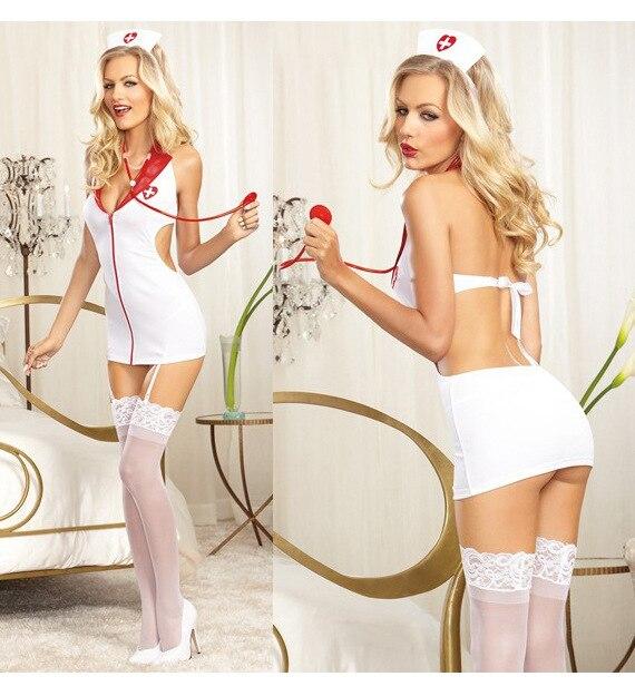 Sexy Cosplay Women Nurse Costume Erotics Women Lingerie Ropa Erotica Mujeres Pron Adult Erotic Underwear Sleepwear Lingerie Set