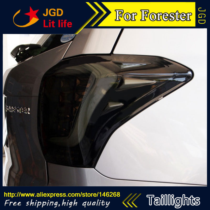 Car Styling tail lights for Subaru Forester 2013 2015 taillights LED Tail Lamp rear trunk lamp cover drl+signal+brake+reverse