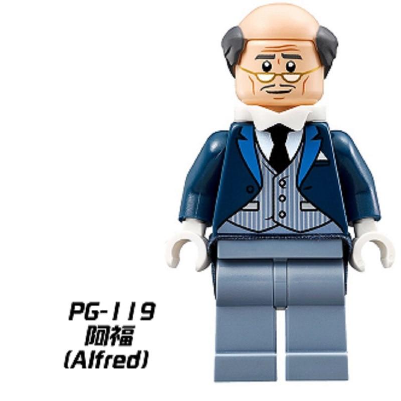 PG119 Star Wars Super Heros Alfred Commissioner Gordon Batman Movie Building Blocks Bricks Gift House Games Model Children toys