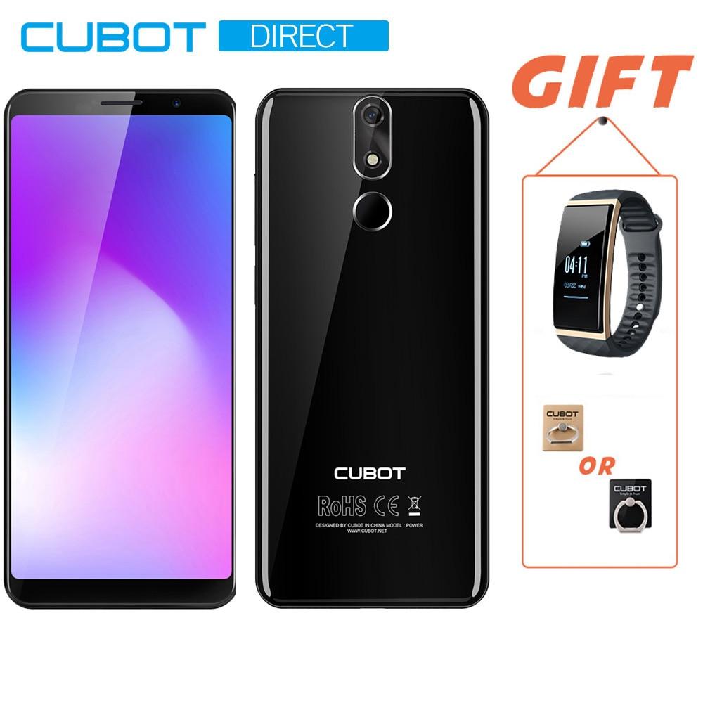 Cubot Pouvoir Hélio P23 Octa Core 6 GO de RAM 128 GB ROM 6000 mAh Android 8.1 Double 4G LTE 5.99 FHD + Smartphone 16.0MP 6 P lentille Téléphone