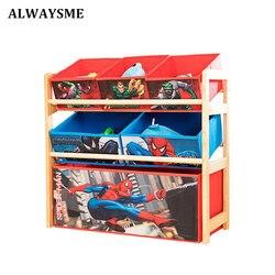ALWAYSME niños gabinete estante niños ropa de juguete organizador niños dormitorio organizador de almacenamiento niños caja de sala de juegos de Metal