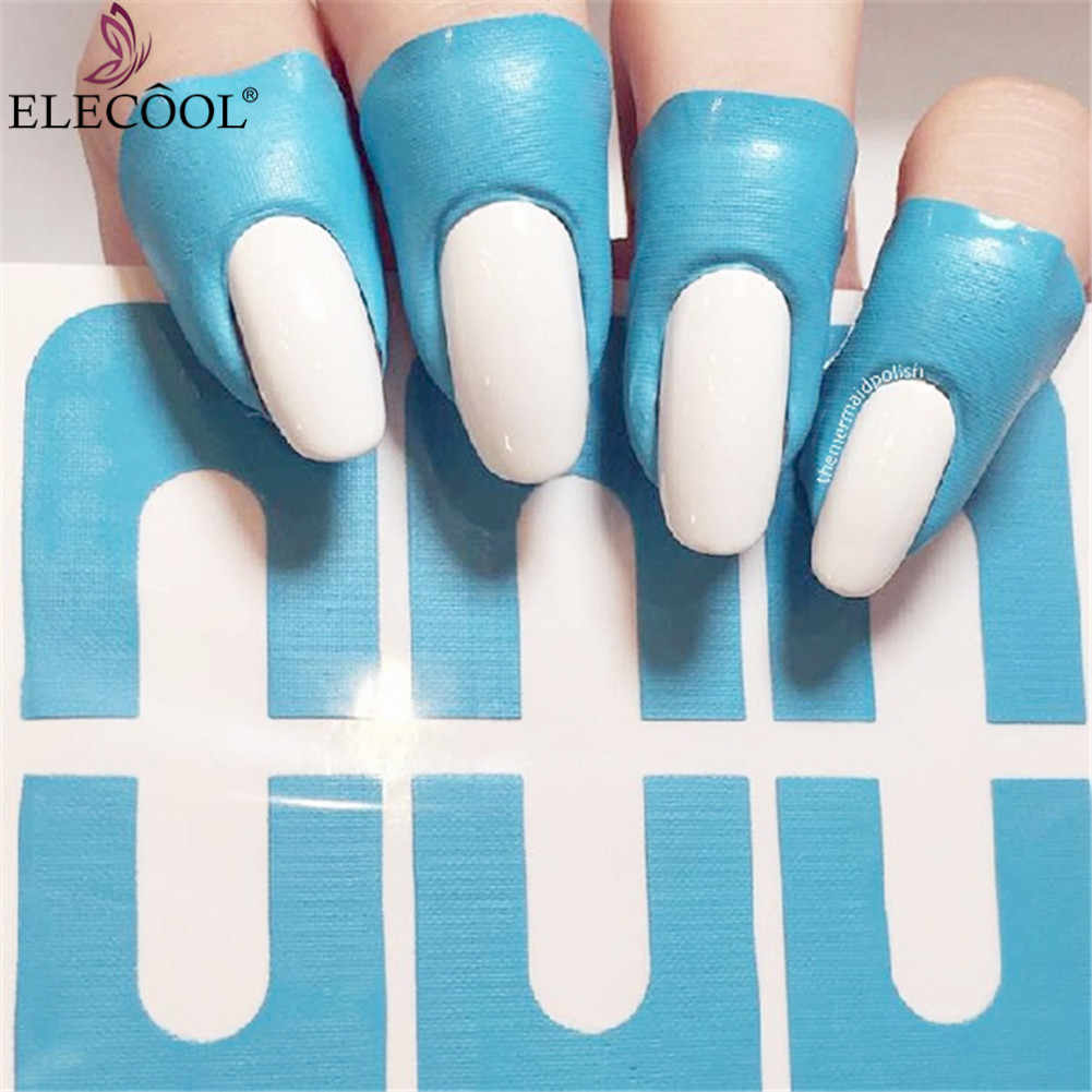 ELECOOL 10 pcs U-vorm Nail Form Guide Sticker Nagellak Varnish Protector Stickers Manicure Tool Spill-proof vinger Cover