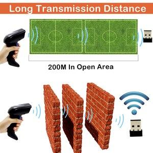 Image 4 - ماسح ضوئي باركود 2D لاسلكي ، Symcode 1D/2D 2.4GHz لاسلكي محمول قارئ شفرة التّعرّف ، لمسافة نقل لاسلكية 200 متر