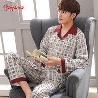 Yuzhenli Pyjamas Men Pyjama Homme Casual Plus Size 100 Cotton Sleepwear Mens Lounge Wear Loungewear Winter