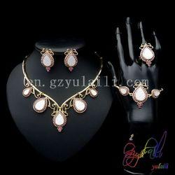 Yulaili unikalne kropla wody projekt afryki 18 karatowego złota wypełniony Cubic cyrkon włoski kostium z krystalicznie cztery zestawy biżuterii