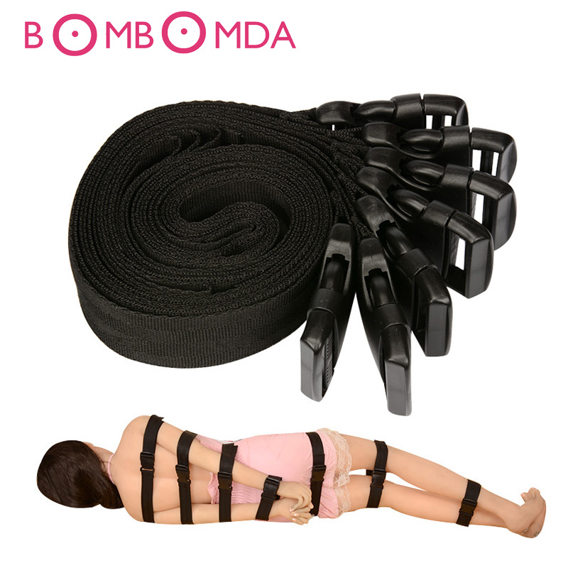 7PCS Set Under Bed Restraints Bondage Set Sex Toys for Couples Flirt Adult Games Straps Erotic