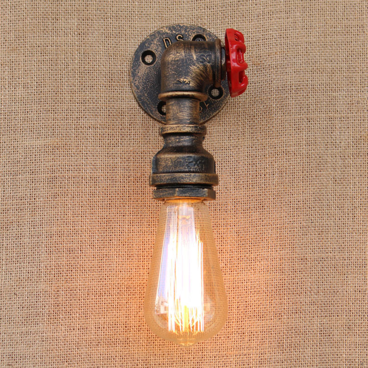 Iwhd Water Pipe Retro Vintage Ceiling Light Fixtures: IWHD RH Iron Water Pipe Wall Lamp Retro Loft Industrial