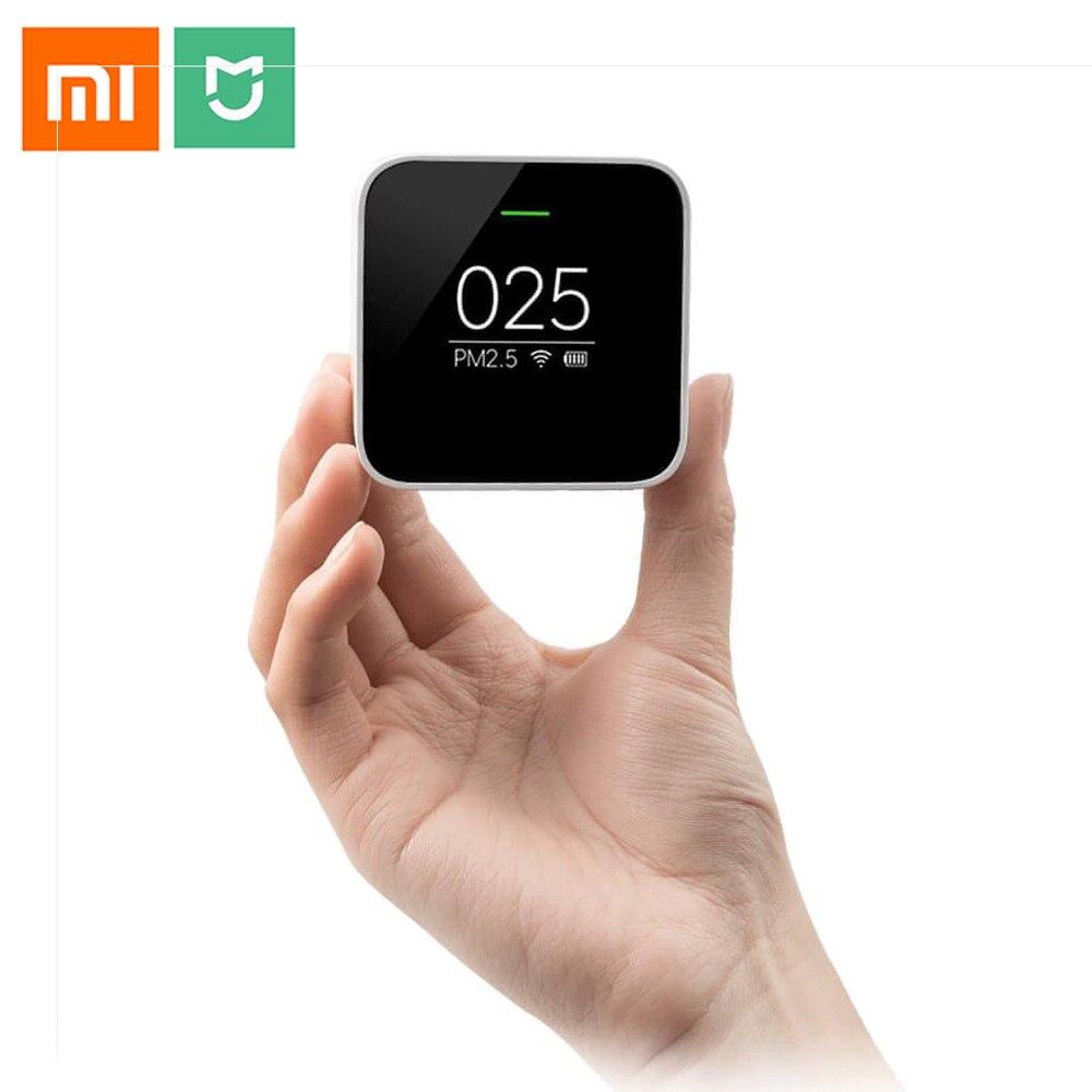 Original Xiaomi Mijia PM2.5 Detector Xiaomi Air Quality Tester OLED Screen Smart Sensor Adapt Mi Air Purifier Smart Control APP цены