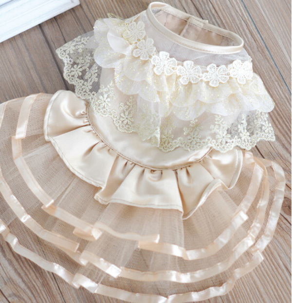 2015 new dogs cats sexy lace tutu princess dress doggy spring summer wedding skirts clothes puppy dresses pets products 10pcs