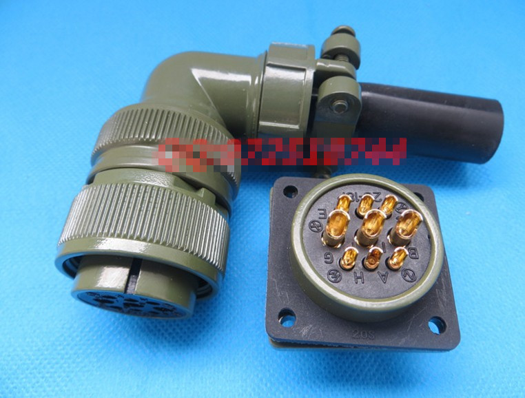 цена на Original new 100% 5015 MS3108A20-18S MS3102A20-18P 9 American Standard aviationplug bent core waterproof connector
