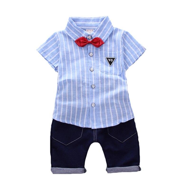 2017 nuevos niños de la ropa del muchacho del algodón camiseta pantalones cortos