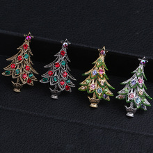 CINDY XIANG Colorful Alloy Christmas tree Brooches for Women Rhinestone Vintage Pins Jewelry Fashion Suit Dress Accessories 2018