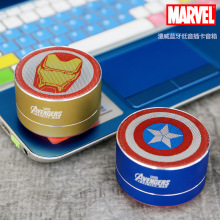 MARVEL/Marvel Bluetooth Speaker Iron Man American Captain Car Bass Computer Card Portable Speaker цена 2017